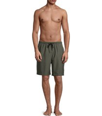 solid and striped men's the california textured swim shorts - olive seer - size s