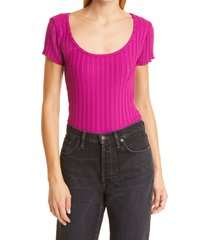 simon miller simone miller callusa ribbed top, size x-large in magenta at nordstrom