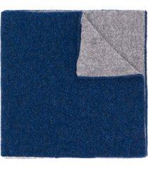 dell'oglio two-tone cashmere scarf - blue
