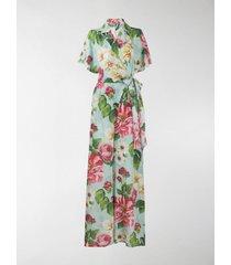 dolce & gabbana floral print wrap jumpsuit