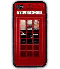 uk british london red phone booth iphone case - rubber silicone iphone 4 4s case