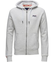 orange label ziphood hoodie trui grijs superdry