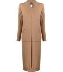 lorena antoniazzi long-ling jumper dress - brown
