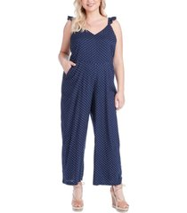 jessica simpson trendy plus size martina printed jumpsuit