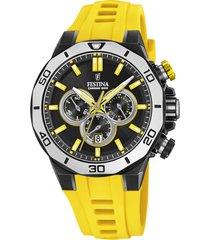 reloj chrono bike amarillo festina