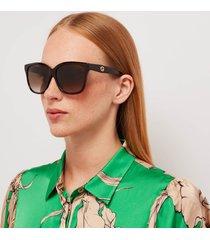 gucci women's classic acetate sunglasses - havana/brown