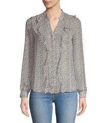 nadine ruffled heart blouse
