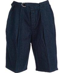 emporio armani pleated shorts