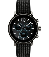 movado connect 2.0 black fabric strap hybrid touchscreen smart watch 42mm