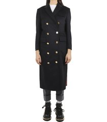 thom browne navy chesterfield coat