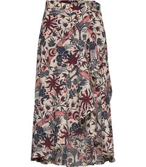 midi allover printed wrap skirt knälång kjol multi/mönstrad scotch & soda