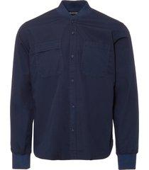 universal works navy poplin sport shirt 17143