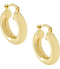 adina chunky hollow hoop earring