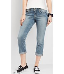 silver jeans co.® womens suki medium wash capri blue denim - maurices