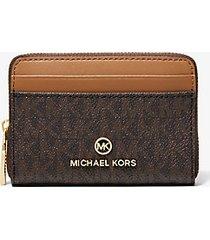 mk portafoglio jet set con logo piccolo - marrone - michael kors
