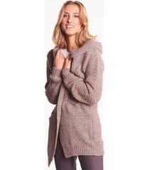 sweter z kapturem jaśmin mokka