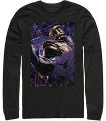 marvel men's avengers endgame thanos galaxy shattered glass, long sleeve t-shirt