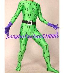 halloween suit lycra spandex zentai amazing riddler suit catsuit costumes s558
