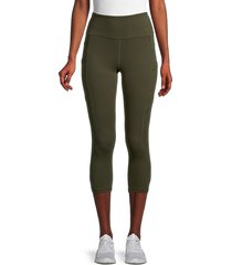 x by gottex women's emma capri pants - clay - size m