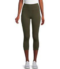 x by gottex women's emma capri pants - clay - size m