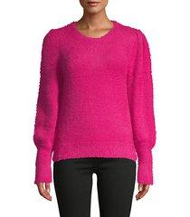 bishop-sleeve plush sweater