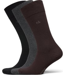 ck 3pk eric cotton 003 underwear socks regular socks brun calvin klein
