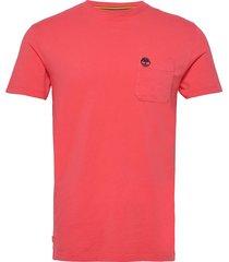 ss dun-riv pocket t t-shirts short-sleeved rosa timberland
