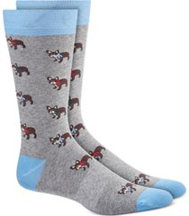 bar iii men's blue holiday socks, created for macy's