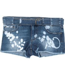 redvalentino denim shorts