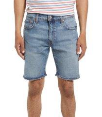 men's levi's men's 412 slim fit denim shorts, size 34 - blue