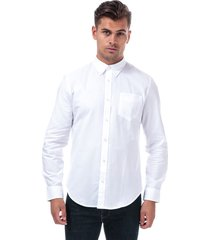 ben sherman mens ls oxford shirt size s in white