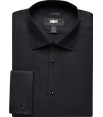 joseph abboud black french cuff formal dress shirt