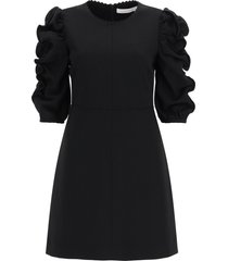 see by chloé short dress with gathered sleeves