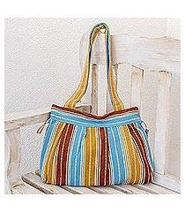 cotton shoulder bag, 'chajul' (guatemala)