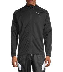 puma men's blaster track jacket - black - size s