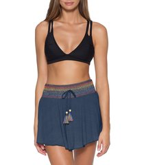 women's soluna sunset cover-up skirt, size small - blue