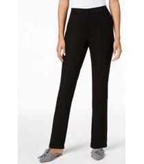 karen scott petite pull-on straight-leg jeans, created for macy's