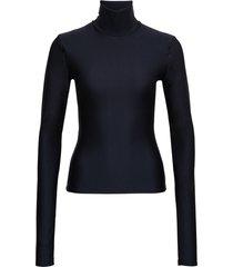 andamane black lycra high neck sweater