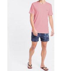 camiseta mc ckj masc logo basico peito - rosa claro - pp