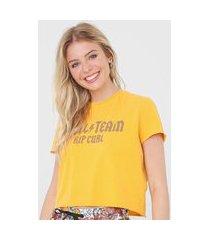 blusa rip curl hell team top amarela