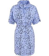 kenzo printed belted tunic shirt dress