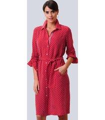 jurk alba moda rood::offwhite