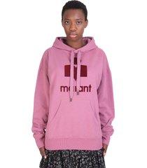 isabel marant étoile mansel sweatshirt in bordeaux cotton
