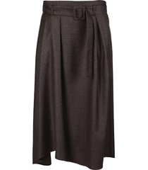 fabiana filippi brown virgin wool blend skirt