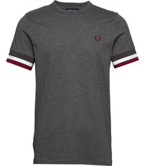 bold tipped t-shirt t-shirts short-sleeved grå fred perry