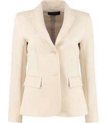 weekend max mara rete single-breasted two-button blazer