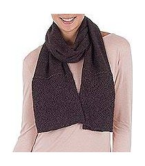 100% alpaca scarf, 'royal fashion in chocolate' (peru)