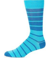 mid-calf striped socks