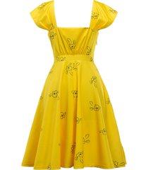 la la land yellow flowers dress mia dress costumes