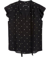 blusa metallic dot sl negro banana republic